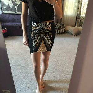 Minkpink mini skirt with jungle/geometric print!